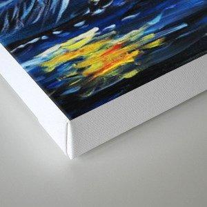 Tardis Starry Night Castle Canvas Print