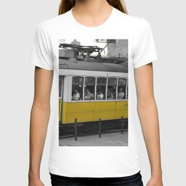 Tram Smoking in Lisbon T-shirt