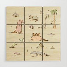 Dinosaurs Wood Wall Art