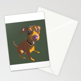 Green Dog Drawing Stationery Cards