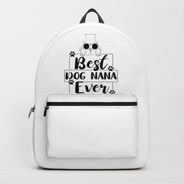 Grandma Gift Best Dog Nana Gifts Backpack