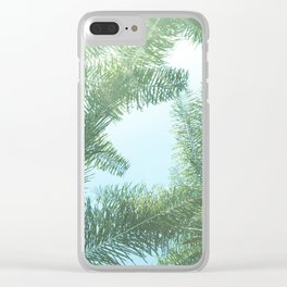 Nature photography tropical vibe vintage palm leaf II Clear iPhone Case