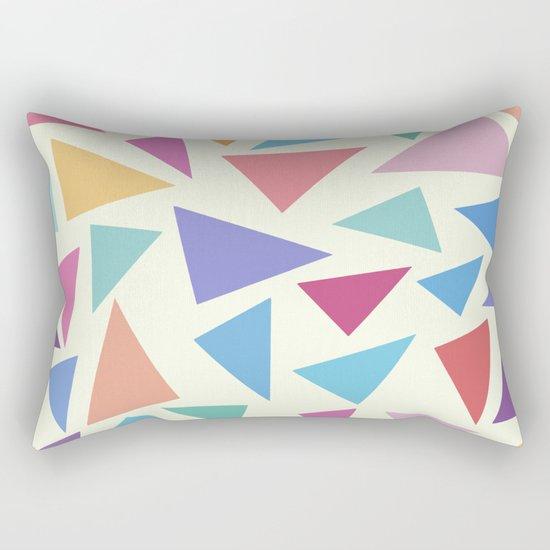 Colorful geometric pattern II Rectangular Pillow