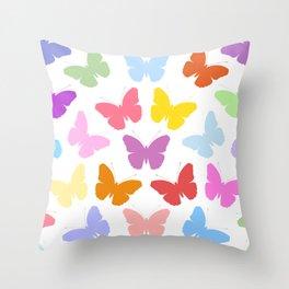 Multicoloured Butterflies Pattern Throw Pillow