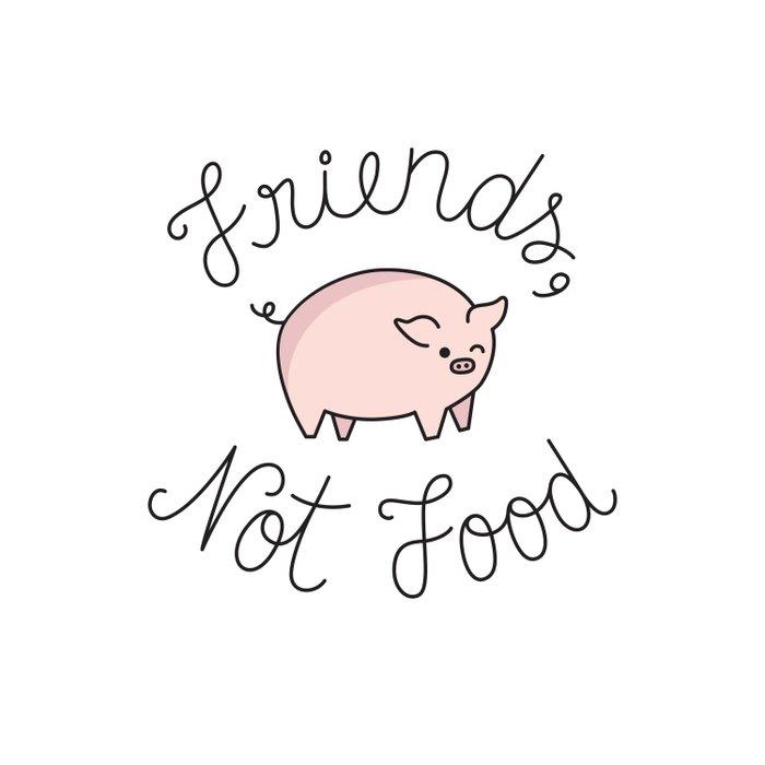 Friends, Not Food Duvet Cover