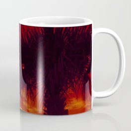 Tropical Palm Trees in a Sunset Coffee Mug
