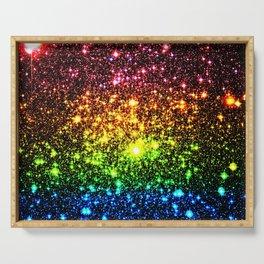 Rainbow Sparkle Galaxy Stars Serving Tray