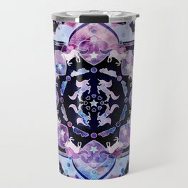 Magic ink splash unicorn universe mandala Travel Mug