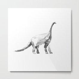 Diplodocus / bw. Metal Print