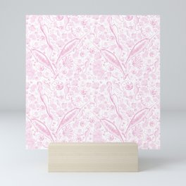 Mermaid Toile - Baby Pink Mini Art Print