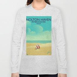Nolton Haven Pembrokeshire Wales Long Sleeve T-shirt