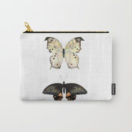 Watercolor Mother-of-pearl and Rose swallowtail Butterflies Carry-All Pouch