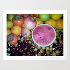 SIMPLY FRUITS Art Print