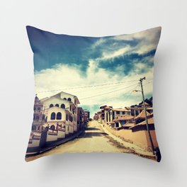 Copacabana Streets Throw Pillow