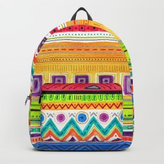 colorful zentangle ethnic dance Backpack