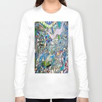 bathroom Long Sleeve T-shirts featuring Venice Beach Bathroom Art by Kim Ramage