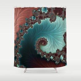 Velvet Crush - Teal/Copper Shower Curtain