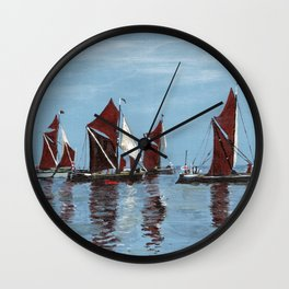 Thames barges Wall Clock