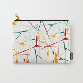 Colorful Splatter Abstract Shapes Carry-All Pouch