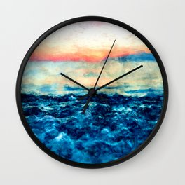 Sea And Sunset Wall Clock