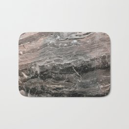 Smokey gray marble Bath Mat