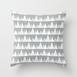 Scandinavian Trees | gray Throw Pillow