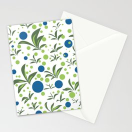 Leaves & Dots Pattern Stationery Cards