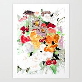 Flowerpower Bouquet Art Print