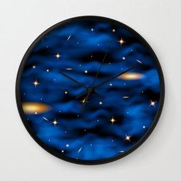 Space nebula background. Wall Clock