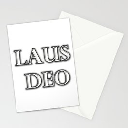 Laus Deo(Praise be to God) Stationery Cards