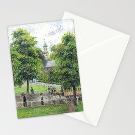 """Camille Pissarro """"Saint Anne's Church at Kew"""" (1892) Stationery Cards"""