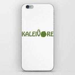 Kaleivore Kale Art for Vegans, Vegetarians Light iPhone Skin