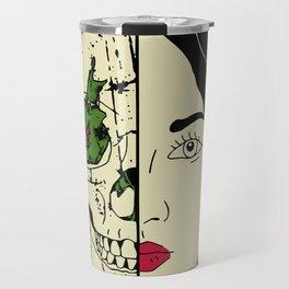 skull girl Travel Mug