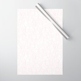 Elios Shirt Faces in Pale Pink Outlines on White CMBYN Wrapping Paper