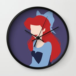 Minimalist princess series: Ariel Wall Clock