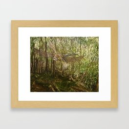 The Dragon of Combe Hill Woods Framed Art Print