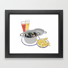 Mussels from Brussels Framed Art Print
