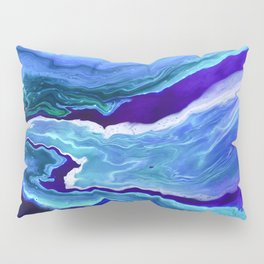 Dreamy Fluid Abstract Painting Pillow Sham