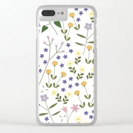 NATIVE FLORA #2 Clear iPhone Case