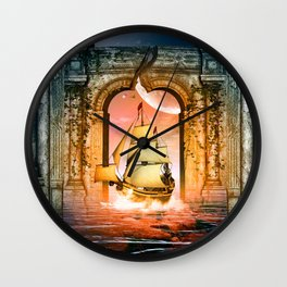 Ship Wall Clock