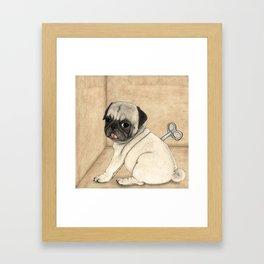 Toy dog; Pug Framed Art Print