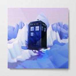 TARDIS SNOW Metal Print