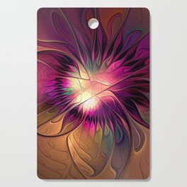 Flowering Fantasy, Abstract Fractal Art Cutting Board