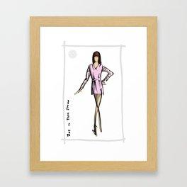 Zoe in 8000NERVES [Pink] Framed Art Print