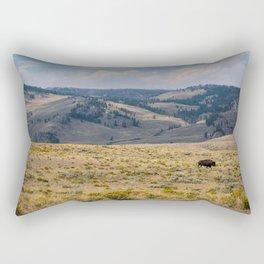 Yellowstone Bison Rectangular Pillow