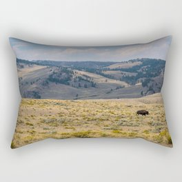 Yellowstone Bison Rectangular Pillow
