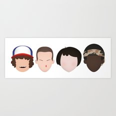 Stranger Things - Best Friends Forever Art Print