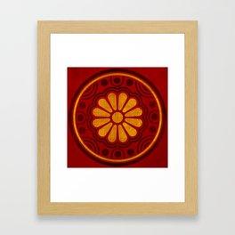 Kamon Alma –Red Framed Art Print