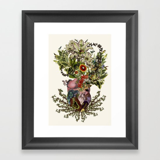 Wall Art Heart Collage : Quot indurare anatomical heart collage by bedelgeuse framed
