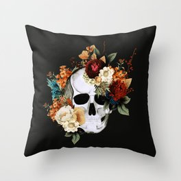 Sugar Skull (Fall) Throw Pillow